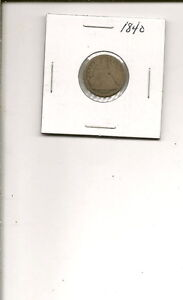 1840 P 90  SILVER SEATED LIBERTY DIME COIN