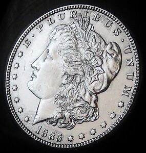 1885 MORGAN DOLLAR   ALMOST UNCIRCULATED   FAST SHIPPING   FAST COIN DELIVERY