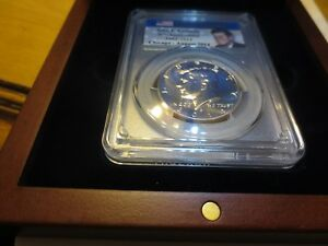 Click now to see the BUY IT NOW Price! 2014 P KENNEDY 50C HIGH RELIEF  CLAD PCGS SP69 CHICAGO ANA SHOW COIN POP ONLY 3