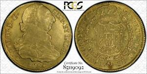 Click now to see the BUY IT NOW Price! 1790P SF COLOMBIA GOLD 4 ESCUDOS PCGS AU53  LY  TOP POP COIN