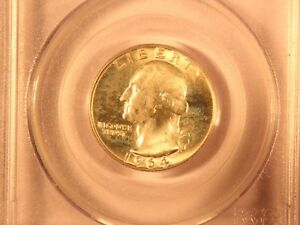 1964 D   WASHINGTON QUARTER  GRADED MS65 BY PCGS