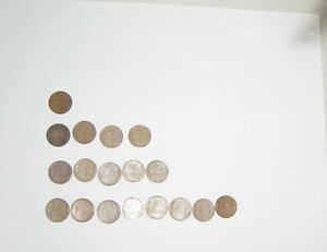 18 LINCOLN CENT WHEAT PENNIES  1925 1930 1934 1938 1942 1945 1946 1948 ..