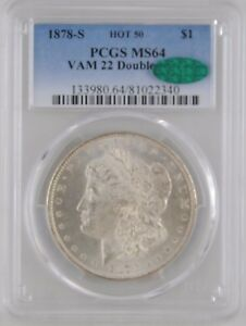 Click now to see the BUY IT NOW Price! 1878 S VAM 22 HOT 50 AOH PCGS MS64 CAC MORGAN SILVER DOLLAR  TOP POP   INV 287