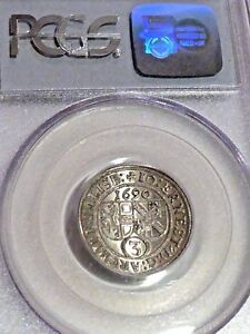 Click now to see the BUY IT NOW Price! 1690 AUSTRIA SALZBURG 3 KR PCGS MS64 SOLE GRADED NONE HIGHER