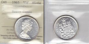 Click now to see the BUY IT NOW Price! 1965 ICCS MS64 50 CENTS HEAVY CAMEO CANADA FIFTY HALF DOLLAR SILVER