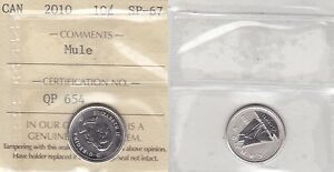 Click now to see the BUY IT NOW Price! 2010 ICCS SP67 10 CENTS MULE CANADA TEN DIME FROM LYNX KITTENS SET