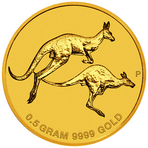 2018 AUSTRALIA MINI ROO $2 0.5 GRAM .9999 PURE GOLD PROOF COIN IN CARD KANGAROO