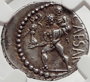 Click now to see the BUY IT NOW Price! JULIUS CAESAR 48BC ANCIENT SILVER ROMAN COIN VENUS TROY ROME HERO NGC I66473