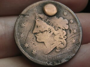 1836 MATRON HEAD LARGE CENT PENNY  OLD TYPE COIN