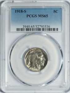 Click now to see the BUY IT NOW Price! 1918 S BUFFALO NICKEL PCGS MS65