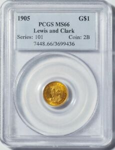 Click now to see the BUY IT NOW Price! 1905 G$1 LEWIS AND CLARK PCGS MS66