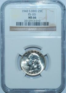 Click now to see the BUY IT NOW Price! 1943 S NGC MS66 FS 101 DDO DOUBLE DOUBLED DIE OBVERSE WASHINGTON QUARTER