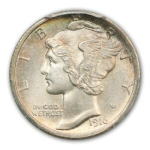 Click now to see the BUY IT NOW Price! 1916 D 10C MERCURY DIME PCGS MS66 FB  CAC