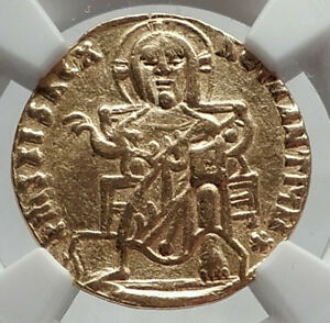 Click now to see the BUY IT NOW Price! BASIL I & CONSTANTINE 870AD ANCIENT JESUS CHRIST GOLD BYZANTINE COIN  NGC I64195