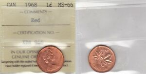 Click now to see the BUY IT NOW Price! 1968 ICCS MS66 1 CENT RED CANADA ONE PENNY SOLE HIGHEST GRADE ON EBAY