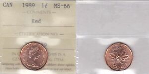 Click now to see the BUY IT NOW Price! 1989 ICCS MS66 1 CENT RED CANADA ONE PENNY
