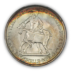 Click now to see the BUY IT NOW Price! NEW ROCHELLE 1938 50C SILVER COMMEMORATIVE PCGS MS68