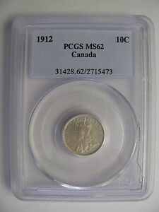 Click now to see the BUY IT NOW Price! 1912 PCGS MS62 10 CENTS CANADA TEN DIME SILVER