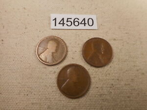 EARLY LINCOLN WHEAT CENT LOT   1918 D 1917 S 1917 D COLLECTOR COINS    145640