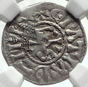 Click now to see the BUY IT NOW Price! CAROLINGIAN FRANCE 840AD SILVER DENIER COIN OF CHARLES II THE BALD NGC I69121