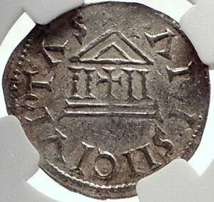 Click now to see the BUY IT NOW Price! CAROLINGIAN FRANCE 840AD SILVER DENIER COIN OF CHARLES II THE BALD NGC I70023