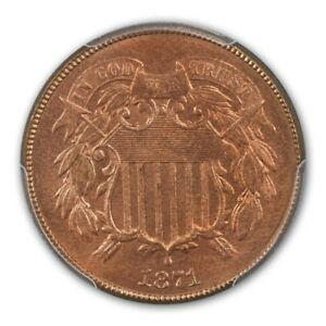Click now to see the BUY IT NOW Price! 1871 2C TWO CENT PIECE PCGS MS66RD