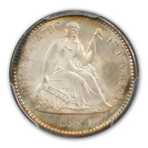 Click now to see the BUY IT NOW Price! 1860 H10C LIBERTY SEATED HALF DIME PCGS MS68  CAC