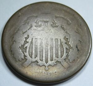 1868 U.S. TWO CENT PIECE 2 PENNY US ANTIQUE CURRENCY OLD VINTAGE COIN COLLECTION