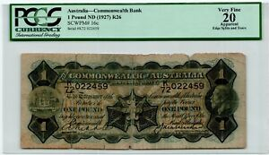 Click now to see the BUY IT NOW Price! AUSTRALIA 1 POUND ND  1927  PM 16C PCGS 20 BANKNOTE