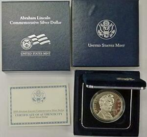 2009 P ABRAHAM LINCOLN BICENTENNIAL COMMEMORATIVE SILVER DOLLAR GEM PROOF