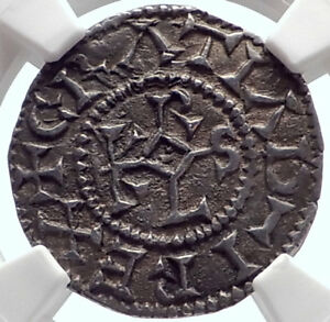 Click now to see the BUY IT NOW Price! 864AD MEDIEVAL FRANCE CAROLINGIAN KING CHARLES THE BALD SILVER COIN NGC I71939