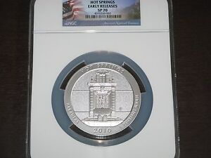 Click now to see the BUY IT NOW Price! 2010 P HOT SPRINGS AMERICA THE BEAUTIFUL 5 OZ SILVER COIN NGC SP70