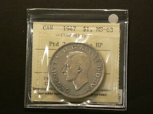 Click now to see the BUY IT NOW Price! CANADA 1947 DOLLAR $1 POINTED 7 DOUBLE HP VARIETY ICCS MS 63 G7098