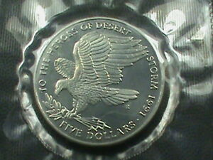 MARSHALL ISLANDS  5 DOLLARS  1991 DESERT STORM  $ 2.99  MAXIMUM SHIPPING IN USA