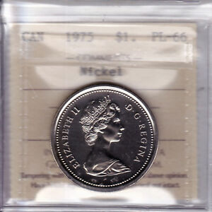 Click now to see the BUY IT NOW Price! 1975 ICCS PL66  NBU BU MS NC  $1 NICKEL  DJ FWL DETACHED JEWELS FULL WATER LINE