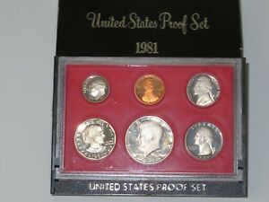 Click now to see the BUY IT NOW Price! 1981S TYPE 2  6  COIN PROOF SET IN ORIGINAL US MINT DISPLAY CASE OGP       PS006