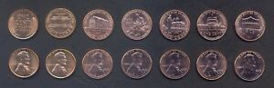 USA COIN SET 1 1 1 1 1 1 1 CENT 7 COINS INCL LINCOLN SET 1957 2015 UNC LOT OF 7