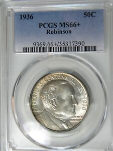 Click now to see the BUY IT NOW Price! 1936 ROBINSON ARKANSAS 50C PCGS MS 66  PLUS