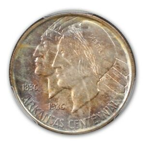 Click now to see the BUY IT NOW Price! ARKANSAS 1938 D 50C SILVER COMMEMORATIVE PCGS MS67