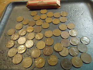 1937 ROLL OF CIRCS LINCOLN WHEAT CENTS     WE COMBINE SHIPPING