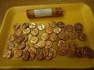 1965 LINCOLN CENT ROLL    UNC CONDITION    >>COMBINED SHIPPING<<