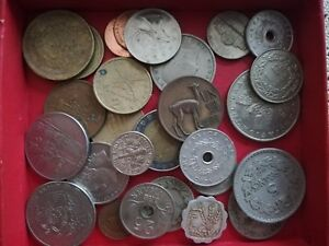 COIN LOT OF 28 PIECES 150GR. TOTAL  WEIGHT COLLECTION OF 28 COINS