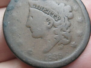 1838 MATRON HEAD MODIFIED LARGE CENT PENNY