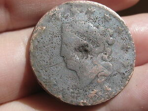 1816 1835 MATRON HEAD LARGE CENT PENNY  TYPE COIN