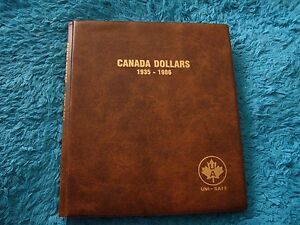 LOT OF 56 CANADA 1 DOLLARS 1935  1986 UNI  SAFE FOLDER ALBUM