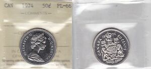 Click now to see the BUY IT NOW Price! 1974 ICCS PL66  NBU BU MS NC  50 CENTS CANADA FIFTY HALF DOLLAR
