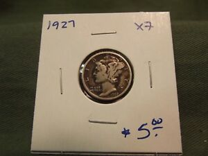 1927 XF SILVER LIBERTY MERCURY DIME SEE OUR STORE FOR MORE COINS