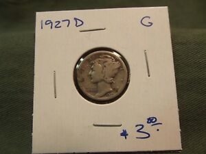 1927D G SILVER LIBERTY MERCURY DIME SEE OUR STORE FOR MORE COINS
