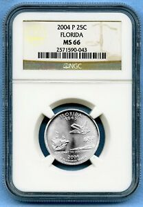 2004 P FLORIDA STATE QUARTER NGC MS66