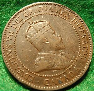1902 CANADA LARGE CENT EDWARD VII COIN NORES CANADIAN HIGH GRADE   <